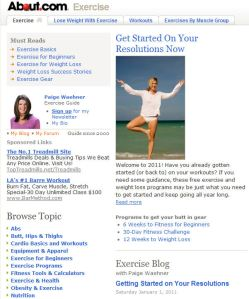 Exercise at About.com